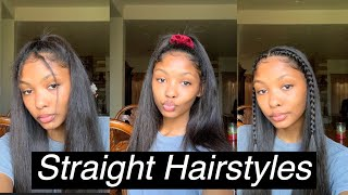 5 Easy Hairstyles For Straight Hair Part 2