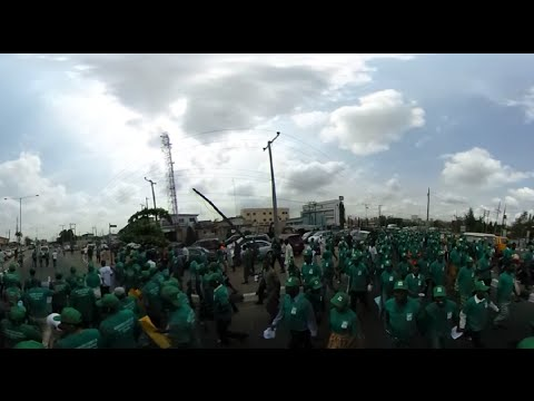 360-video: Committee for the Defence of Human Rights protests in Ikeja