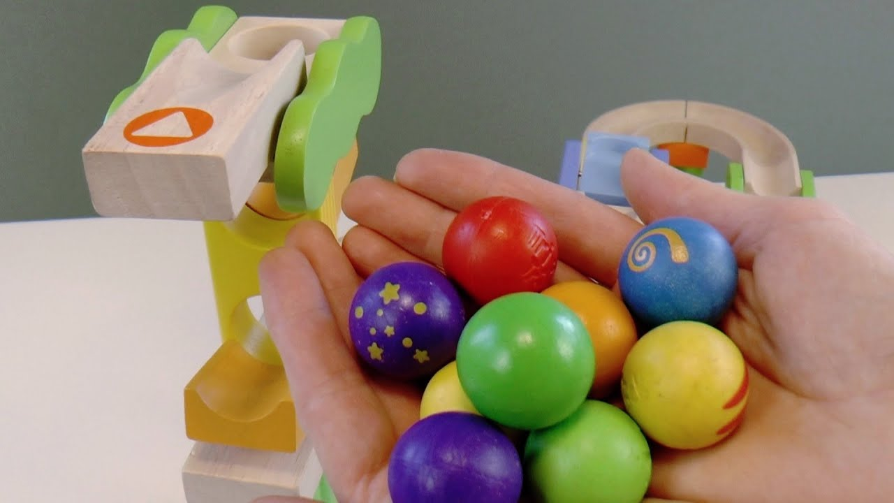 Marble run race ASMR Safari Trix Track with big marble unboxing and assembling