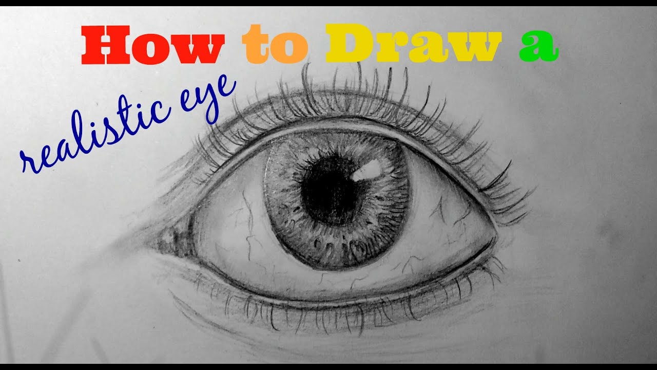 How to draw a simple and Quick realistic eye - YouTube