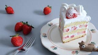 딸기 생크림 케이크 만들기 l strawberry cr…