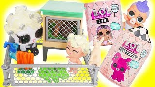 LOL Surprise Gold Fuzzy Pets and Lils in Cage | Toy Egg Videos