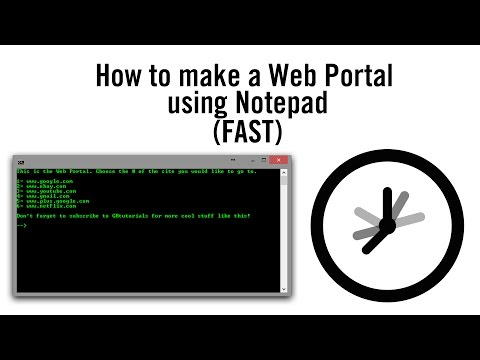 How to make a Web Portal using Notepad (FAST)