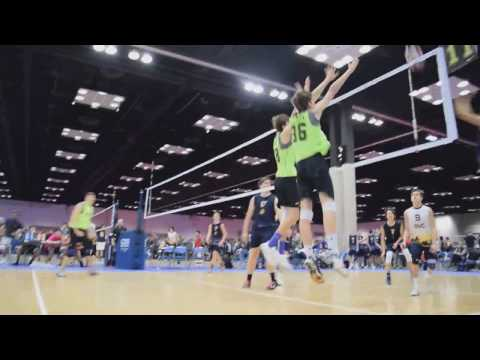 Caleb Steege #36 @ Indy Qualifier 2017-02-03  D1 Volleyball Club 17Green - Block Highlights