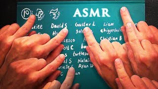 ASMR 1hr Fast Tapping on 11,063 Names (Highly Requested)