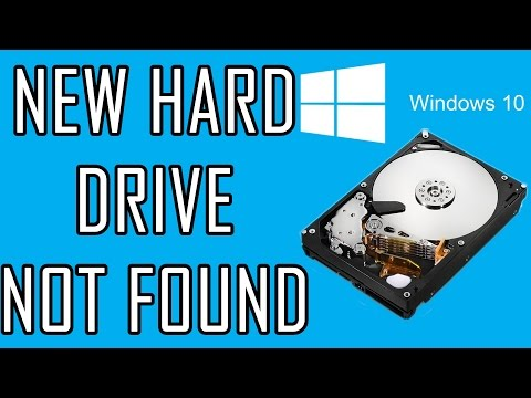 New hard drive not showing up | Get windows 10 to recognize new Hard drive.
