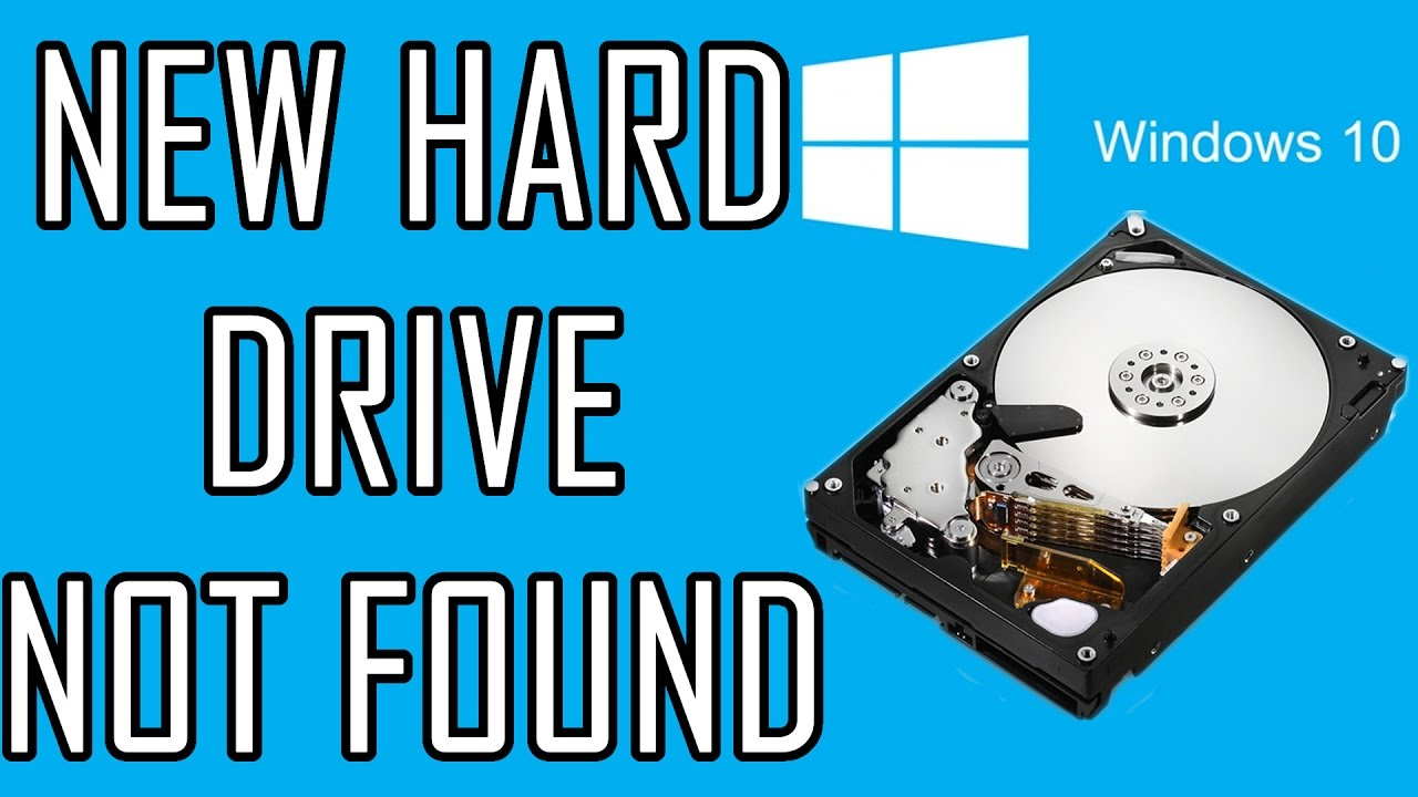 New hard drive not showing up | Get windows 10 to recognize new Hard drive