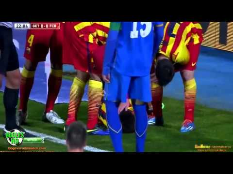 Neymar Horrible Injury ● Neymar se lesiona ● Barcelona vs Getafe HD