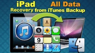 iPad Data Recovery Full: How to Recover lost or deleted iPad Data from iTunes backup on Mac