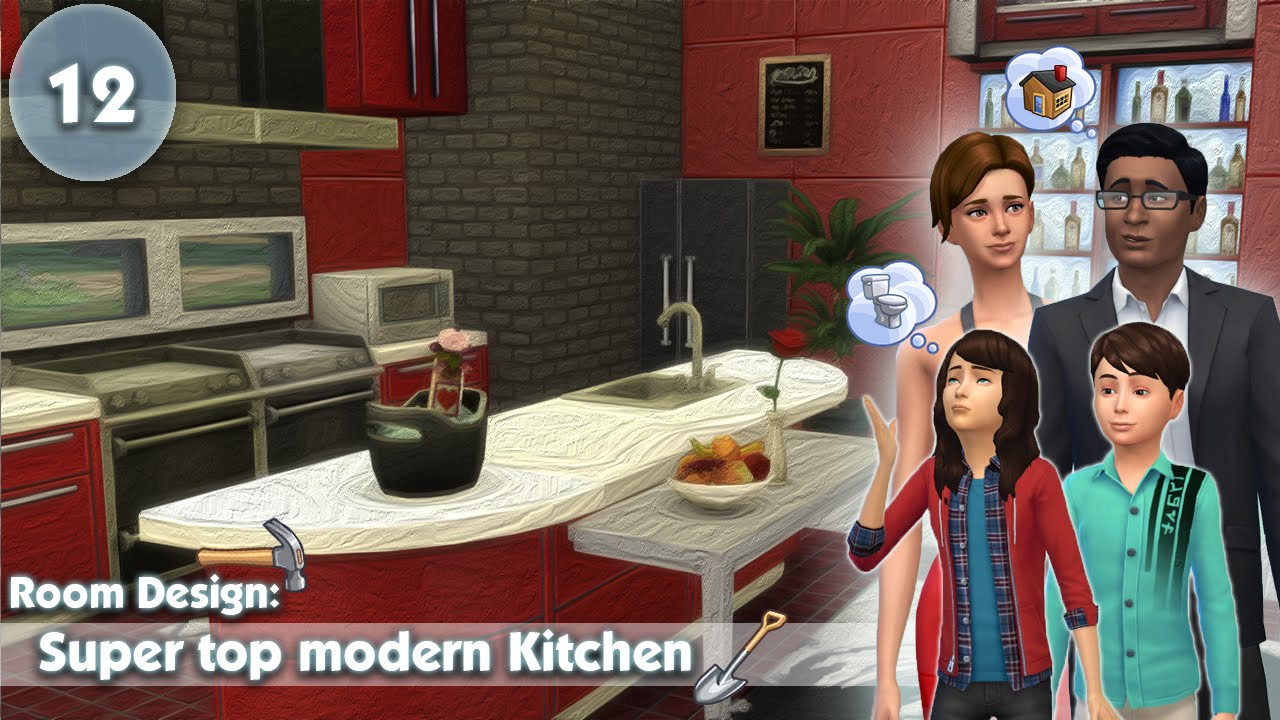The Sims 4 Room Design Super Top Modern Kitchen Youtube