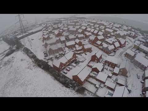 20171210 - DRONE FOOTAGE - Snow in Leighton Buzzard