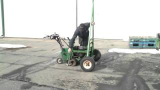 Ryan sod cutter loading on shop made trailer