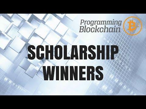 Programming Blockchain Scholarship Winners!