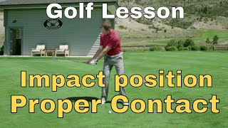 Golf Tip - Impact position and proper contact
