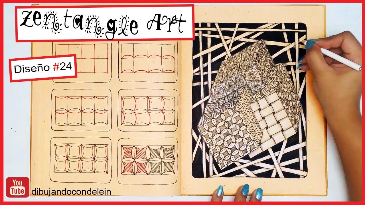 Como Hacer Zentangle Art Paso A Paso 24 Zentangle Pattern Youtube