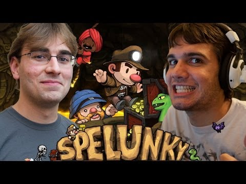 [Indie] Pedro e BRKsEdu jogam: SPELUNKY!! - Co-op Local