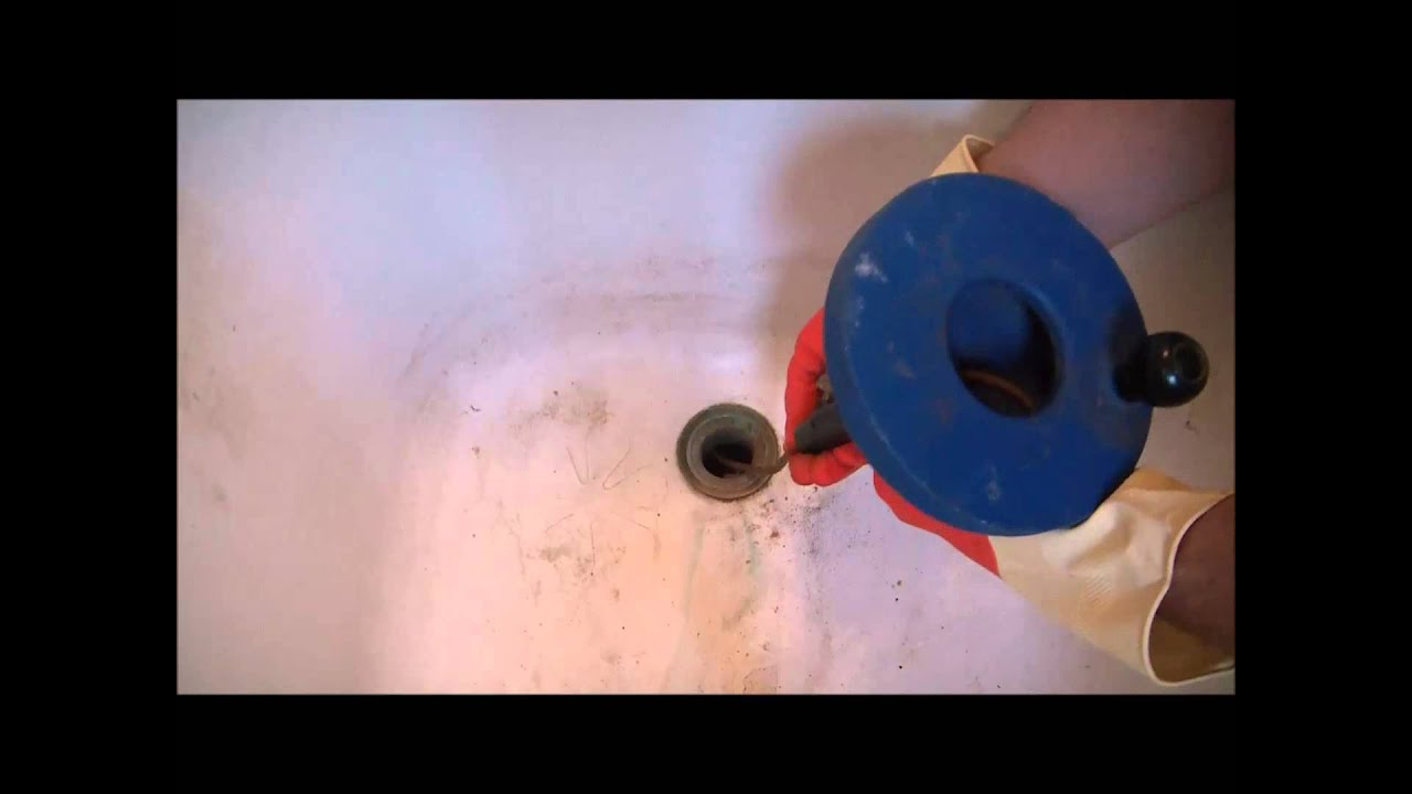 How To Unclog A Bathtub Drain Quick And Easy - YouTube