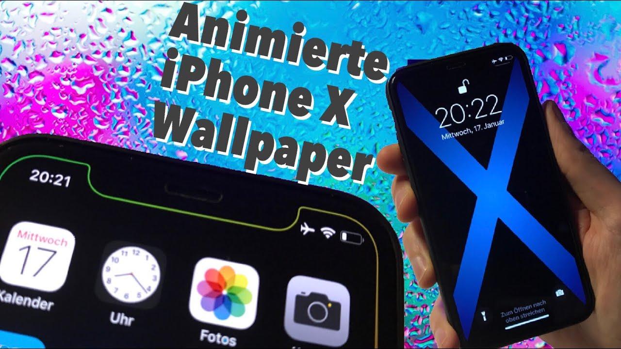 Neue animierte iPhone X Wallpaper ohne Jailbreak installieren - Tutorial Anleitung - YouTube