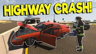 HIGHWAY CRASH RESCUE MISSION & NEW UPDATE! - Flashing Lights Gameplay - Police & Fire Simulator