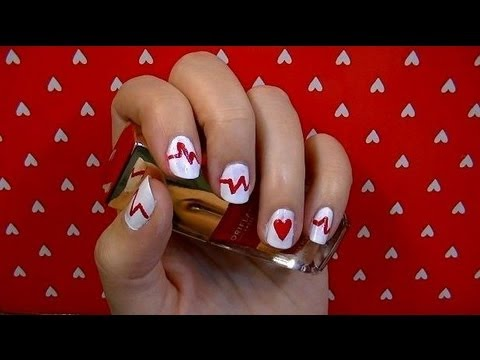 Decoraci n de u as para san valentin nail art youtube - Decoracion para san valentin ...