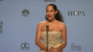 Tracee Ellis Ross - Golden Globes 2017 - Full Backstage Interview
