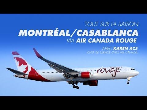 Tout sur la liaison Montréal/Casablanca via Air Canada rouge