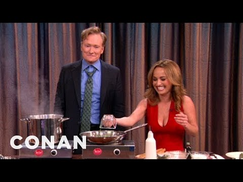 Giada De Laurentiis & Conan Make Chocolate Linguini
