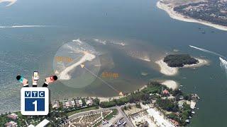 Xuất hiện thêm cồn cát dài 200 m ở Cửa Đại