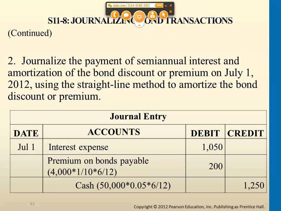 Exercise Journalizing Bond Transactions - YouTube