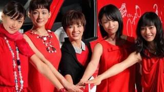 車体各部にお菓子をデザインした赤いワンボックスワゴンが47都道府県...