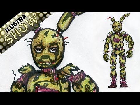 Como Dibujar a Springtrap de Five Nights At Freddys 3 ILUSTRA
