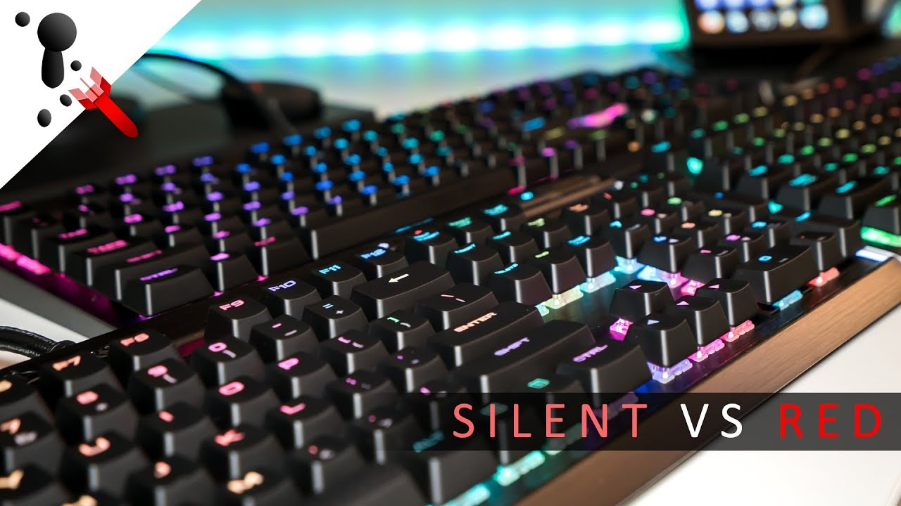 253cab9842a Corsair K70 LUX RGB with Cherry MX Silent Switches VS MX Red - YouTube