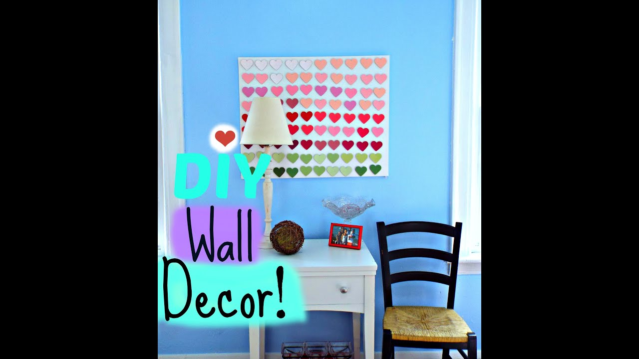 Easy Heart Wall/Room Decor Canvas Using Paint Chip Swatches - YouTube