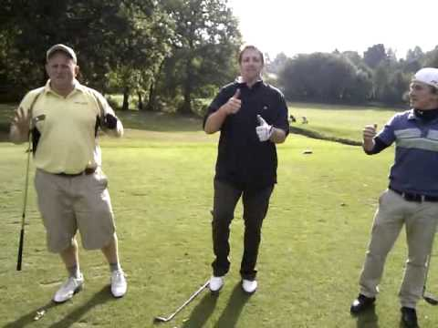Spotty sock song at golf with the boys.