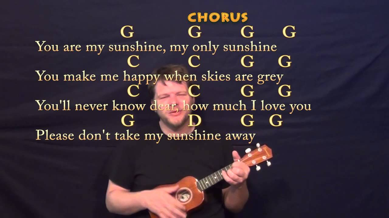 You are my sunshine ukulele cover lesson with chords lyrics you are my sunshine ukulele cover lesson with chords lyrics hexwebz Images
