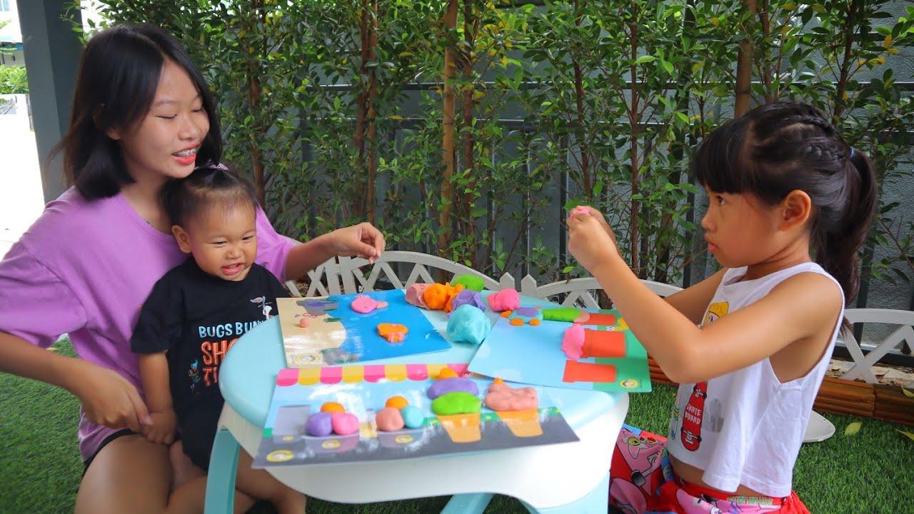พี่เกลลี่กับน้องธันวา ปั้นแป้งโดว์ใหม่ กับพี่ริน Baby Go Round
