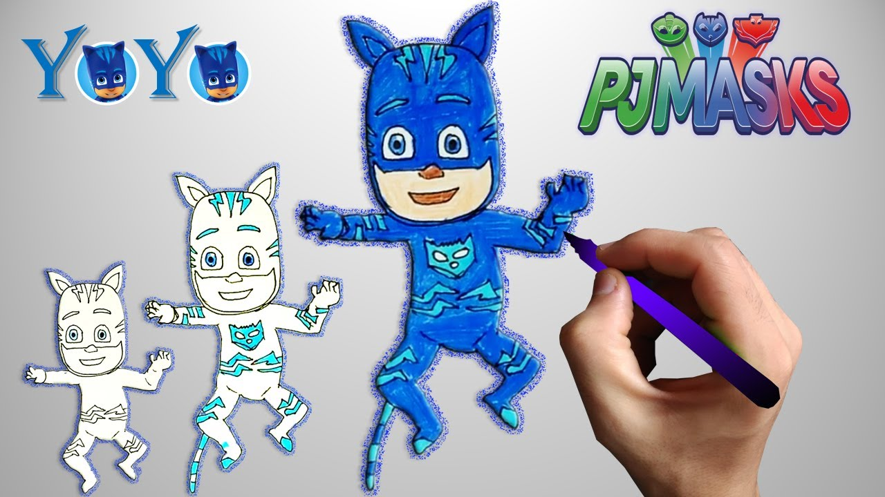 Dessin Coloriage Yoyo Les Pyjamasques How To Draw Catboy Pj