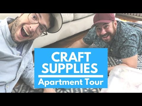 Where We Store Our Crafts In Our Small Apartment