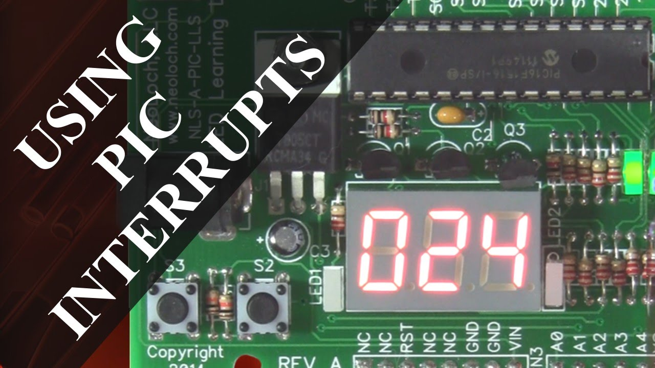 David's Lab: Using PIC Interrupt to Drive a LED Display