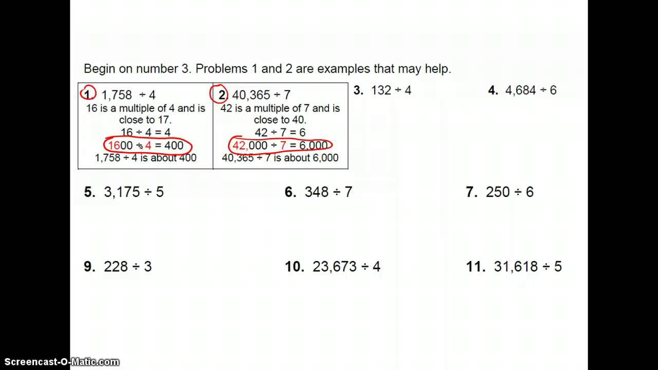 Estimating With Decimals And Whole Numbers Youtube