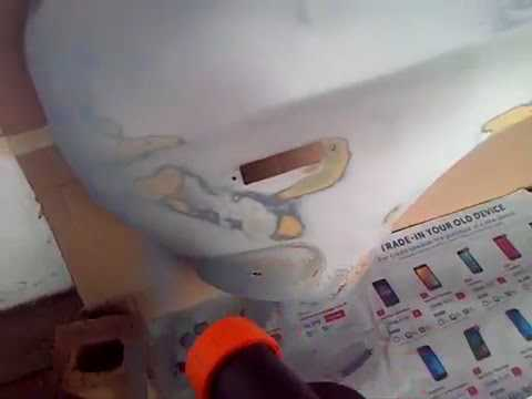 Spray paint techniques spray paint panel Car with electric spray gun