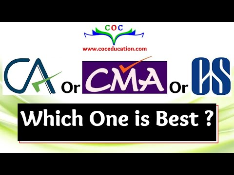 CA or CMA or CS  which one is best  By Santosh kumar( CA/CMA)