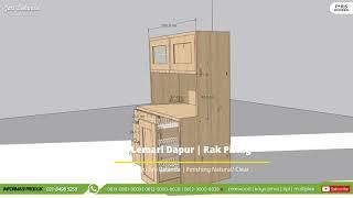 Desain Lemari Dapur   Kayu Jati Belanda   pinewood