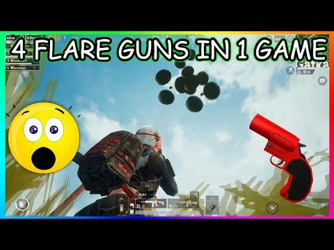 4 FLARE GUNS IN 1 GAME || ALL SERVER CAME TO KILL US || PUBG MOBILE FUNNY MOMENTS