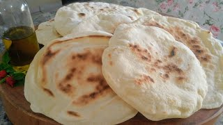 Pão Sírio Ou Pita-Rápido Fácil E Econômico
