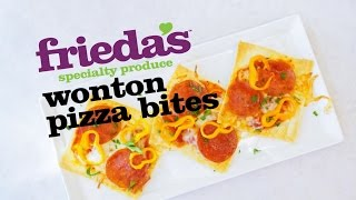 Easy wonton pizza bites