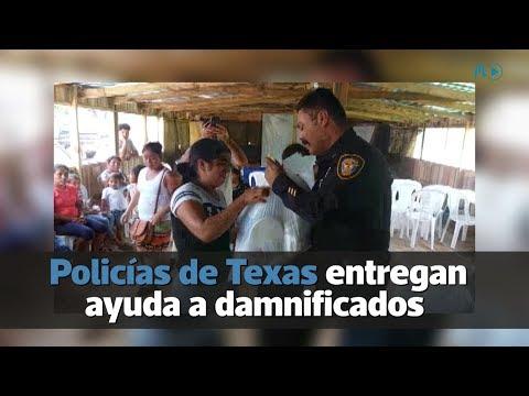 Policías de Texas entregan ayuda a damnificados del Volcán de Fuego | Prensa Libre