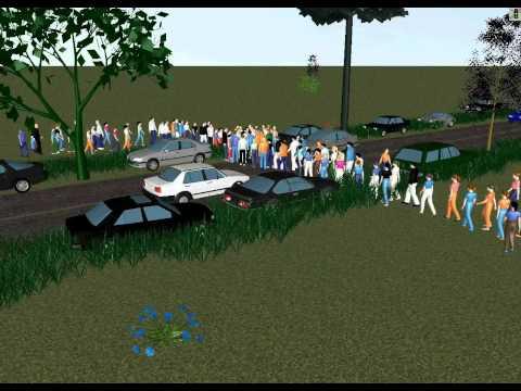 PTV Vissim and Viswalk: Simulation of Pedestrians Crossing a Street
