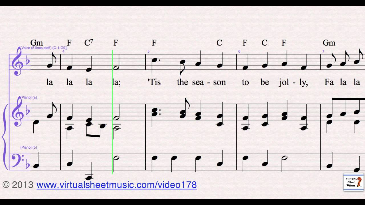 t oliphants deck the halls for piano voice or other instruments sheet music video score