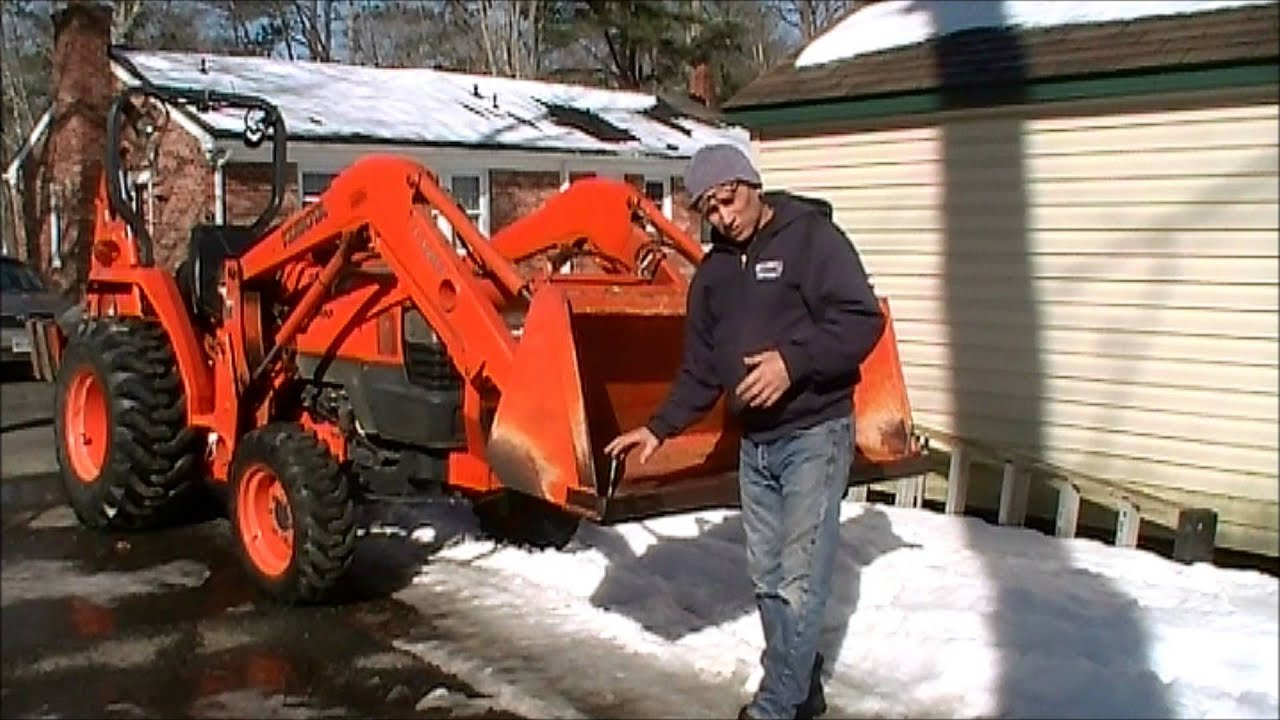 Making A Bucket Edge Protector For The Kubota Tractor